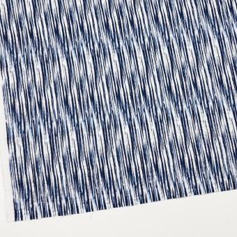 コットン×幾何学模様(ブルーミックス)×ローンリップル サムネイル2