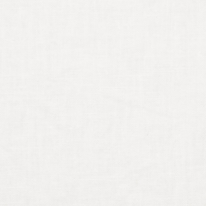 リネン&コットン×無地(ホワイト)×シーチング_全36色 イメージ1