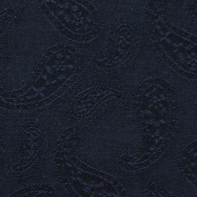 コットン×ペイズリー(ダークネイビー)×ジャガード_全2色 イメージ1