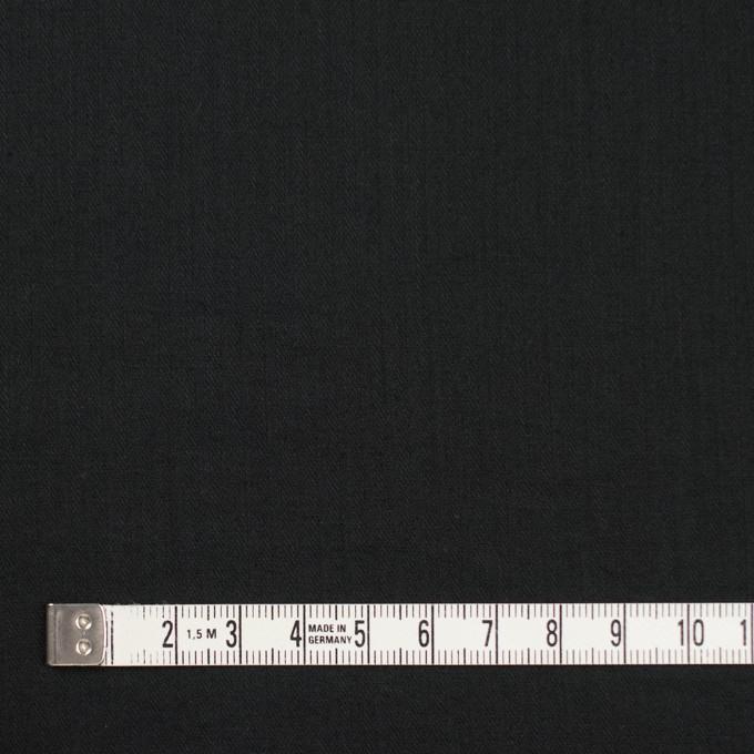 コットン&リネン×無地(ブラック)×ヘリンボーン_全5色 イメージ4