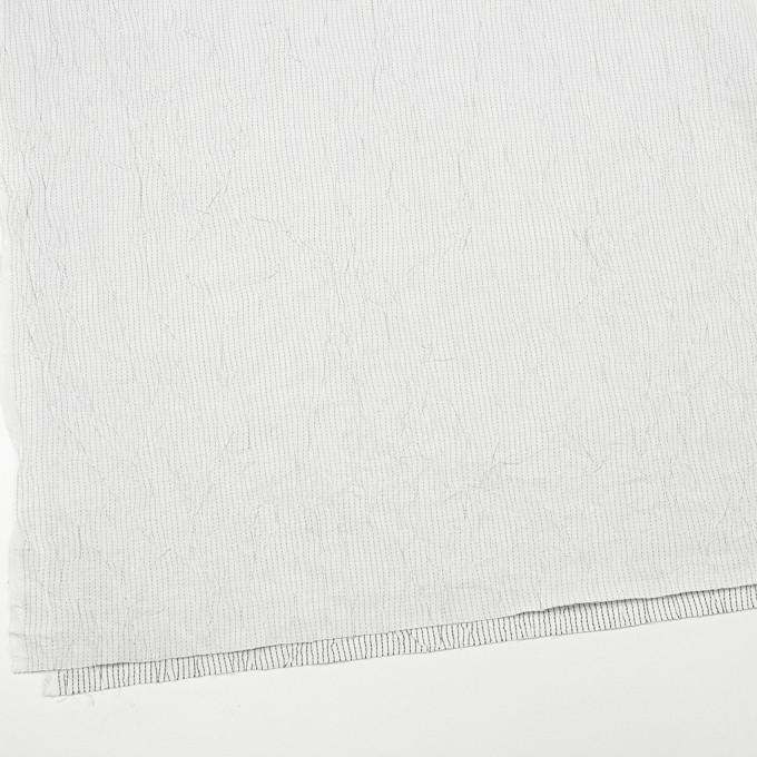 コットン&ポリエステル×ストライプ(オフホワイト&ブラック)×ブロードワッシャー刺し子_全2色 イメージ2