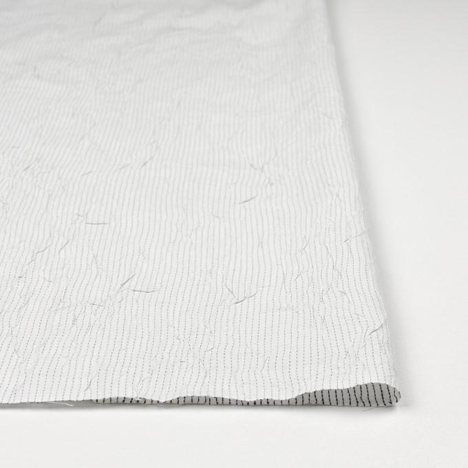 コットン&ポリエステル×ストライプ(オフホワイト&ブラック)×ブロードワッシャー刺し子_全2色 イメージ3