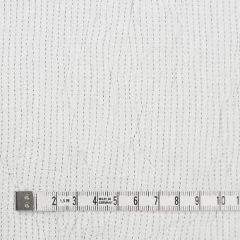 コットン&ポリエステル×ストライプ(オフホワイト&ブラック)×ブロードワッシャー刺し子_全2色 サムネイル4