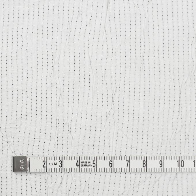 コットン&ポリエステル×ストライプ(オフホワイト&ブラック)×ブロードワッシャー刺し子_全2色 イメージ4