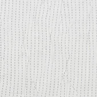 コットン&ポリエステル×ストライプ(オフホワイト&ブラック)×ブロードワッシャー刺し子_全2色 サムネイル1