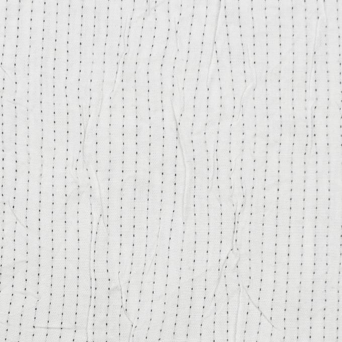 コットン&ポリエステル×ストライプ(オフホワイト&ブラック)×ブロードワッシャー刺し子_全2色 イメージ1