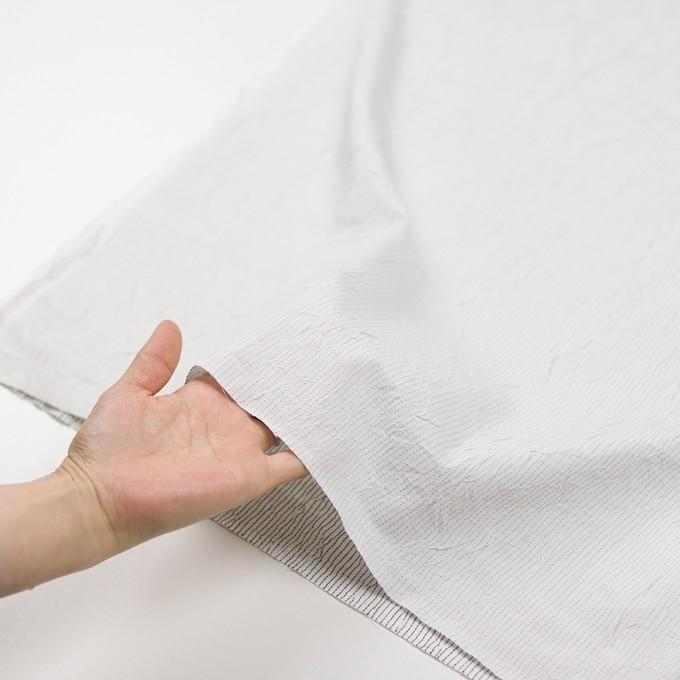 コットン&ポリエステル×ストライプ(オフホワイト&ブラック)×ブロードワッシャー刺し子_全2色 イメージ5
