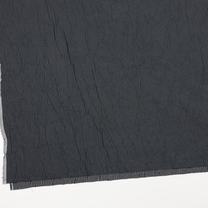 コットン&ポリエステル×ストライプ(チャコール&ホワイト)×ブロードワッシャー刺し子_全2色 イメージ2