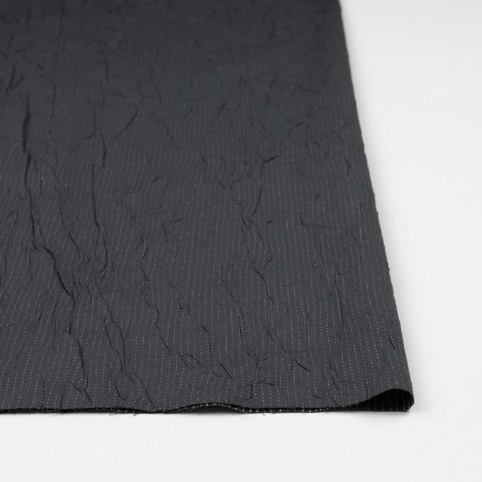 コットン&ポリエステル×ストライプ(チャコール&ホワイト)×ブロードワッシャー刺し子_全2色 イメージ3