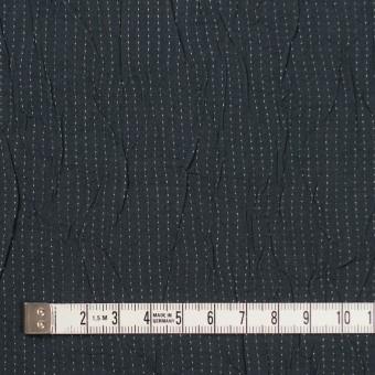 コットン&ポリエステル×ストライプ(チャコール&ホワイト)×ブロードワッシャー刺し子_全2色 サムネイル4