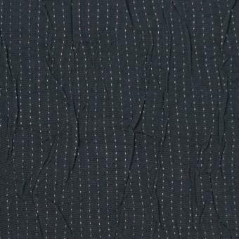 コットン&ポリエステル×ストライプ(チャコール&ホワイト)×ブロードワッシャー刺し子_全2色 サムネイル1