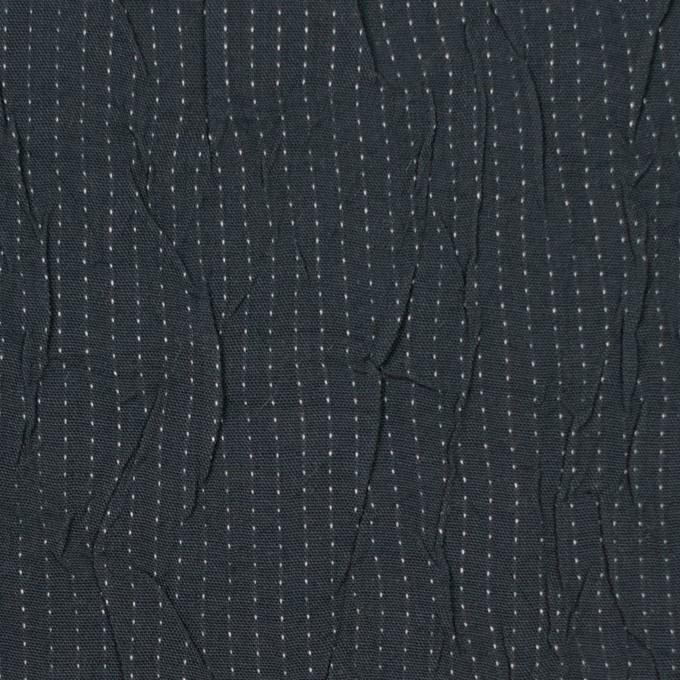 コットン&ポリエステル×ストライプ(チャコール&ホワイト)×ブロードワッシャー刺し子_全2色 イメージ1