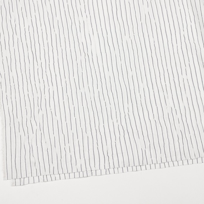 コットン&ポリエステル×ストライプ(オフホワイト&ネイビー)×ブロードワッシャー_全2色 イメージ2