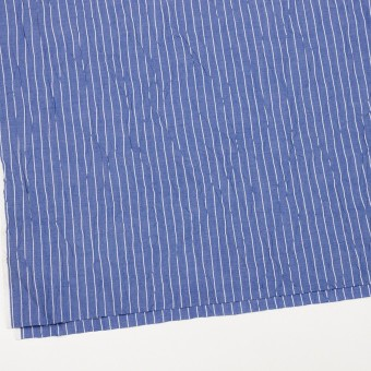 コットン&ポリエステル×ストライプ(ヒヤシンスブルー&オフホワイト)×ブロードワッシャー_全2色 サムネイル2