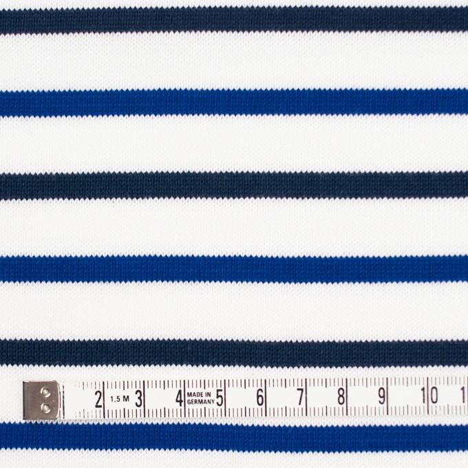 コットン×ボーダー(ダークネイビー&ブルー)×天竺ニット_全2色_パネル イメージ4