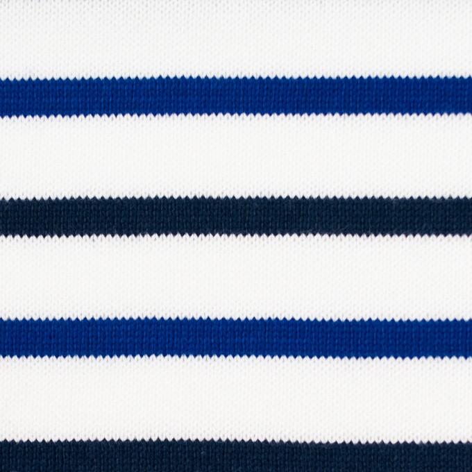 コットン×ボーダー(ダークネイビー&ブルー)×天竺ニット_全2色_パネル イメージ1