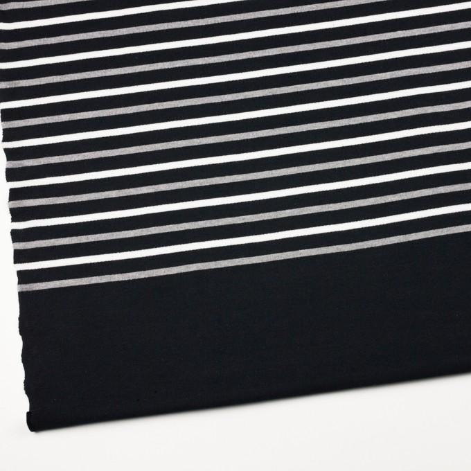 コットン×ボーダー(ホワイト&グレー)×天竺ニット_全2色_パネル イメージ2