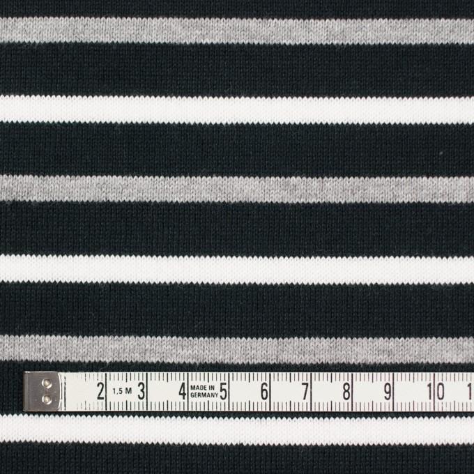 コットン×ボーダー(ホワイト&グレー)×天竺ニット_全2色_パネル イメージ4