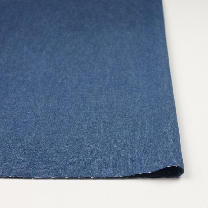 コットン×無地(ブルー)×ソフトデニム イメージ3