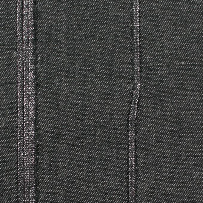 コットン&ポリウレタン×無地(チャコールブラック)×ピンタックデニム イメージ1