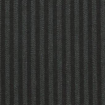 コットン×ストライプ(スチールグレー&チャコールブラック)×サージ