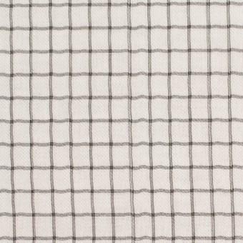 ナイロン&コットン×チェック&無地(キナリ)×オーガンジー&サージ_全3色
