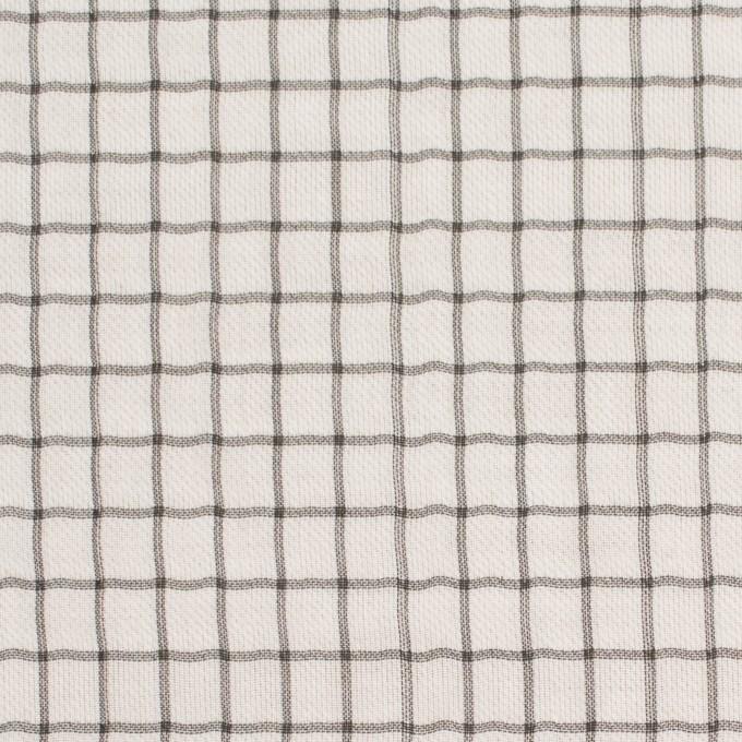 ナイロン&コットン×チェック&無地(キナリ)×オーガンジー&サージ_全3色 イメージ1