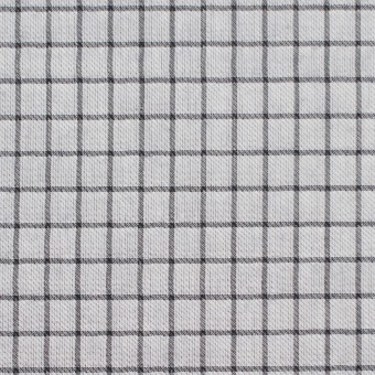 ナイロン&コットン×チェック&無地(ネイビー)×オーガンジー&サージ_全3色