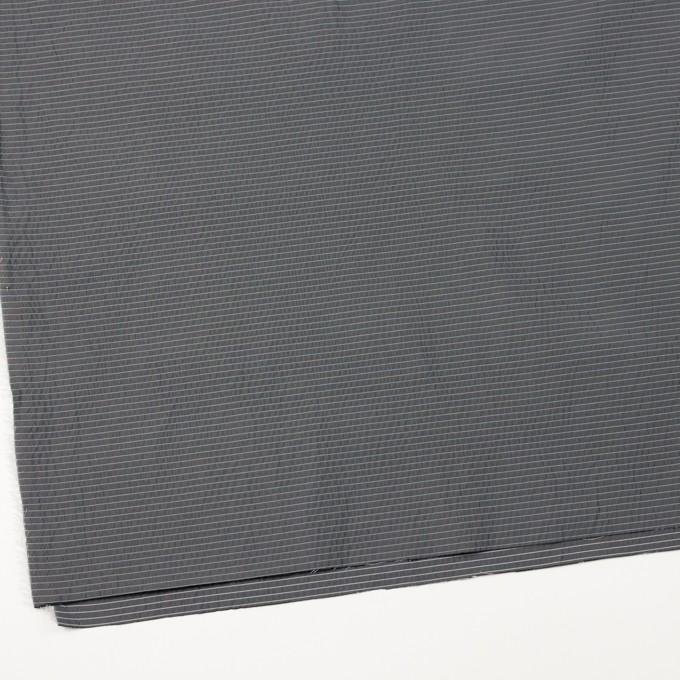 ポリエステル×ボーダー(スチールグレー)×形状記憶タフタ_全3色 イメージ2