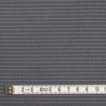 ポリエステル×ボーダー(スチールグレー)×形状記憶タフタ_全3色 サムネイル4