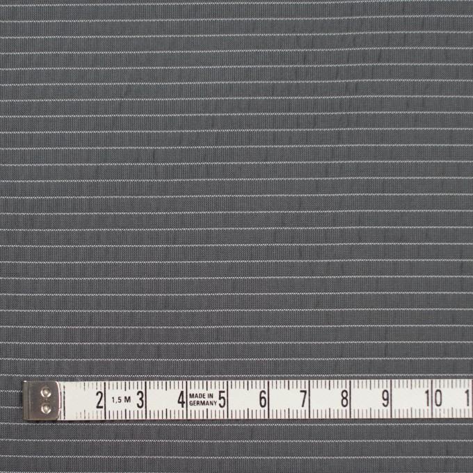 ポリエステル×ボーダー(スチールグレー)×形状記憶タフタ_全3色 イメージ4