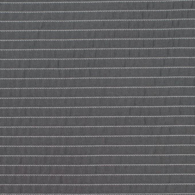 ポリエステル×ボーダー(スチールグレー)×形状記憶タフタ_全3色 イメージ1