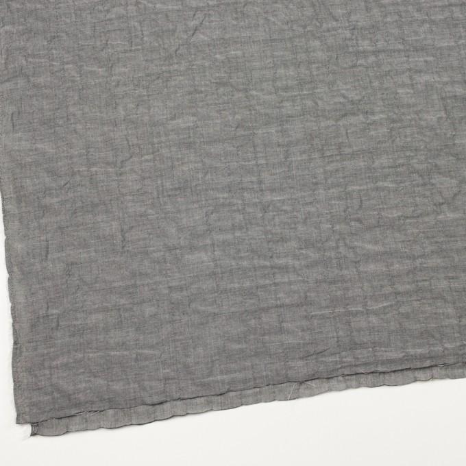 コットン&ポリウレタン×無地(グレー)×シャンブレーボイル・シャーリング イメージ2