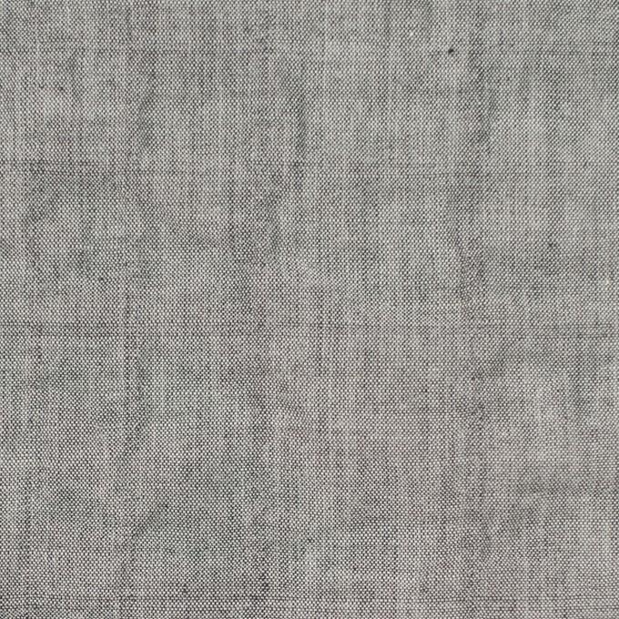 コットン&ポリウレタン×無地(グレー)×シャンブレーボイル・シャーリング イメージ1
