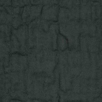 コットン&ポリウレタン×無地(チャコールブラック)×ヘリンボーン・シャーリング サムネイル1