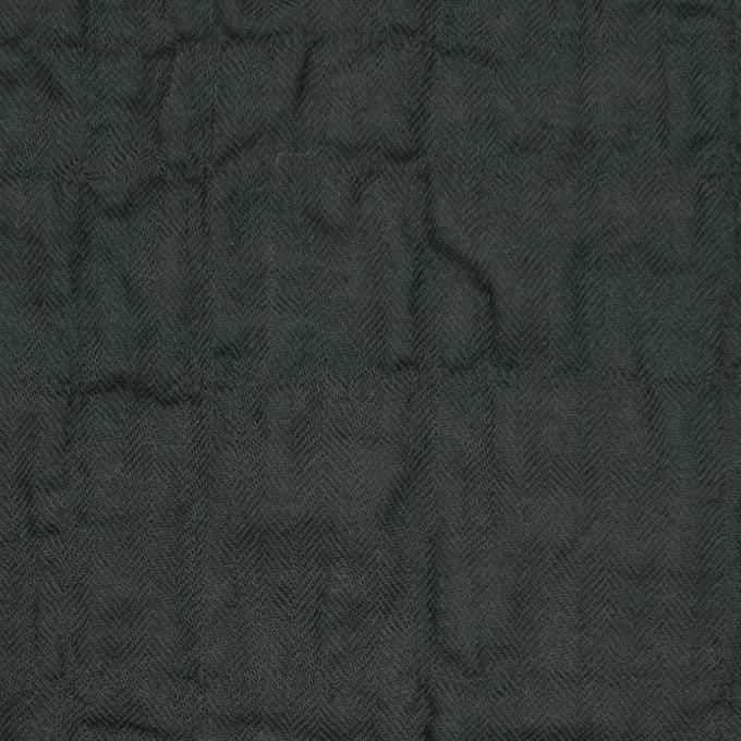 コットン&ポリウレタン×無地(チャコールブラック)×ヘリンボーン・シャーリング イメージ1