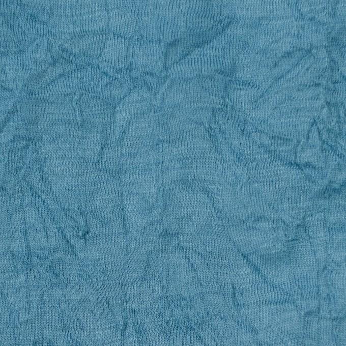 ウール×無地(チョークブルー)×天竺ニットワッシャー_全4色 イメージ1
