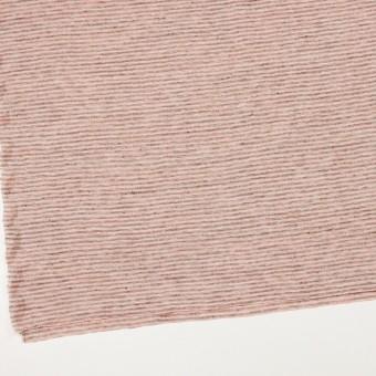 リネン×ボーダー(サーモンピンク&杢グレー)×天竺ニット_全2色 サムネイル2