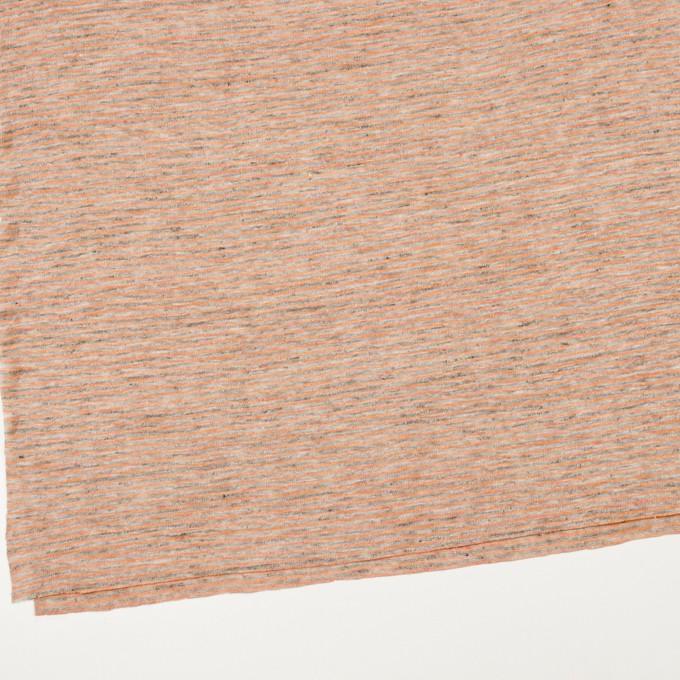 リネン×ボーダー(オレンジ&杢グレー)×天竺ニット_全2色 イメージ2