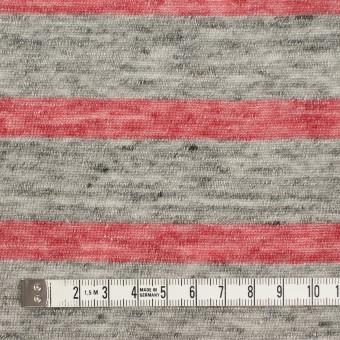 リネン×ボーダー(ストロベリーレッド&杢グレー)×天竺ニット サムネイル4