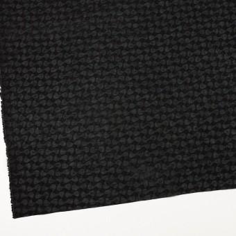 コットン&リネン×無地(ブラック)×ボイル_塩縮加工_全2色 サムネイル2