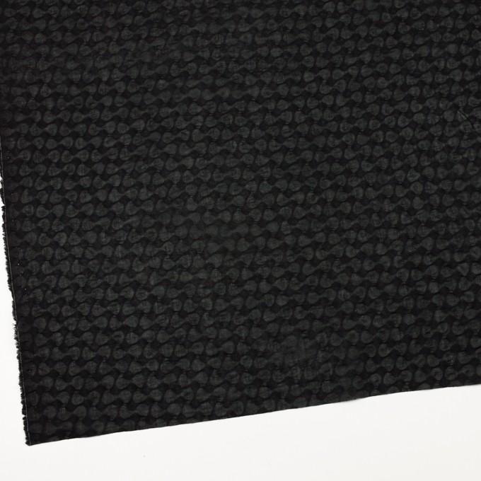 コットン&リネン×無地(ブラック)×ボイル_塩縮加工_全2色 イメージ2