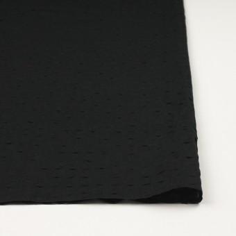 コットン&リネン×無地(ブラック)×ボイル_塩縮加工_全2色 サムネイル3