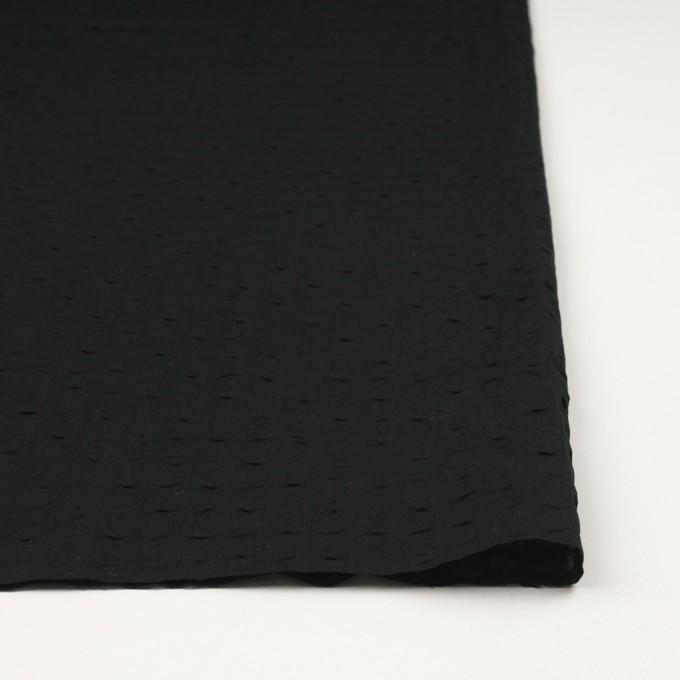 コットン&リネン×無地(ブラック)×ボイル_塩縮加工_全2色 イメージ3
