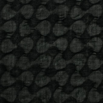 コットン&リネン×無地(ブラック)×ボイル_塩縮加工_全2色