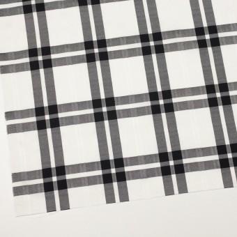 コットン&ポリエステル×チェック(ブラック)×ブロードジャガード サムネイル2