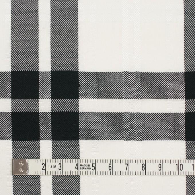 コットン&ポリエステル×チェック(ブラック)×ブロードジャガード イメージ4