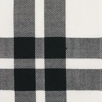 コットン&ポリエステル×チェック(ブラック)×ブロードジャガード サムネイル1