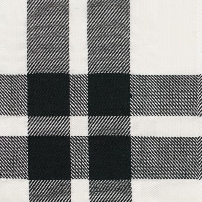 コットン&ポリエステル×チェック(ブラック)×ブロードジャガード イメージ1