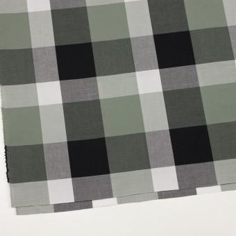 コットン×チェック(スレートグリーン&ブラック)×ブロード サムネイル2